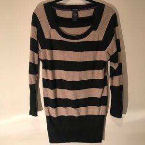 Talula Aritzia Black/tan striped cashmere sweater